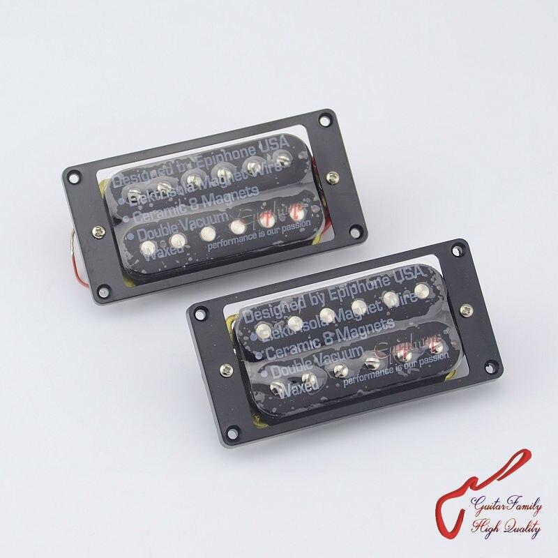 1 Unidades Original de guitarra eléctrica epinefrina de alta potencia de cerámica imán Bar abierto Humbucker Pickup negro hecho en Corea