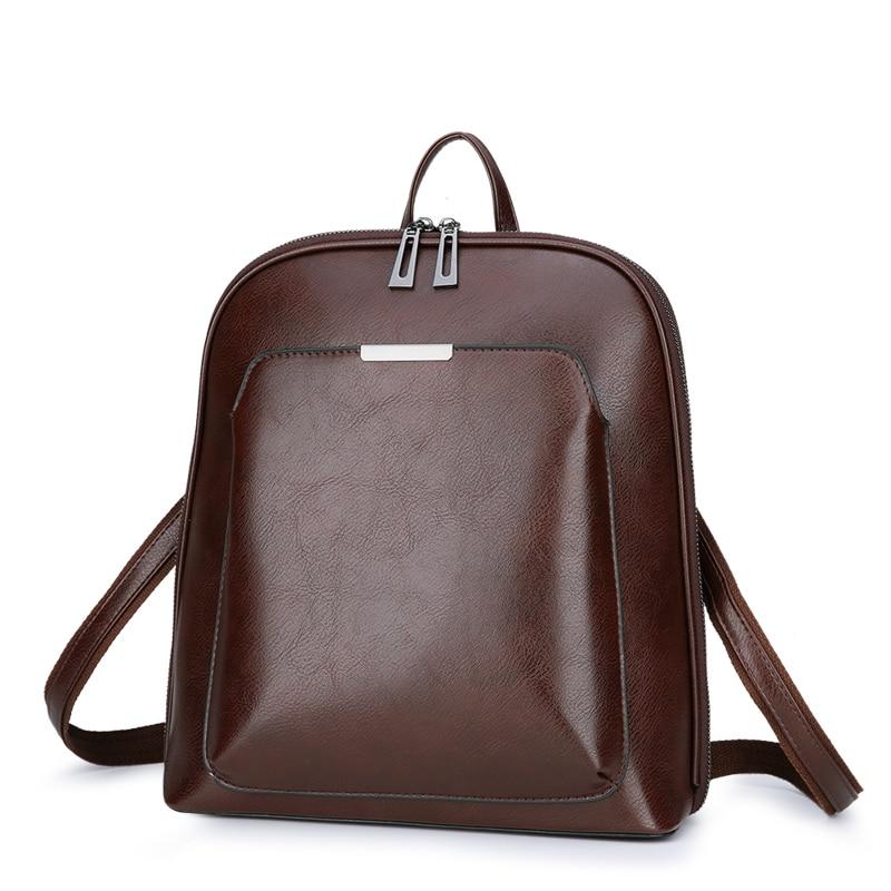 Vintage Backpack Female Brand Leather Women's backpack Large Capacity School Bag for Girls Leisure Shoulder Bags for Women 2018