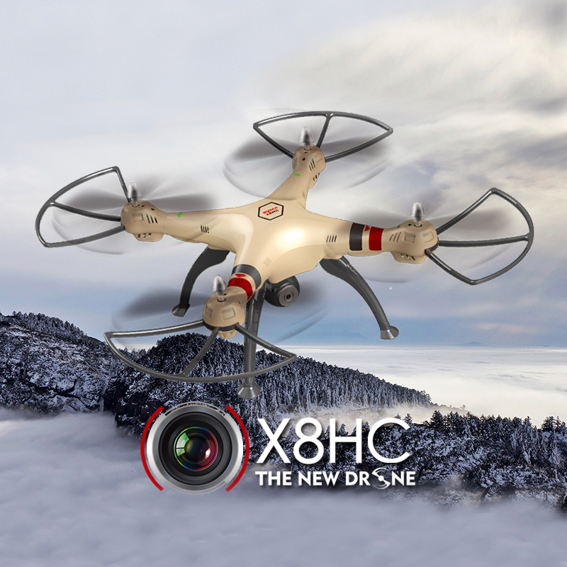 SYMA X8HC 4CH 6 Axis RC Quadcopter Drone with HD Camera 2.4G RTF with Headless Mode One Key Return X8C Upgrade