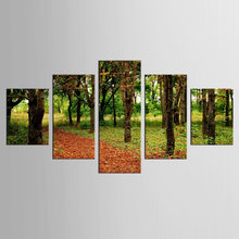 5 pieces/set forest road landscape Wall Art For Wall Decor Home Decoration Picture Paint on Canvas Prints Painting(China)