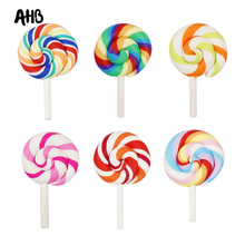 AHB Sweet Candy Patch Soft Clay Lollipop Cabochons Handmade Embellishment Resin Material DIY Hair Bow Phone Decorative Supplier цена