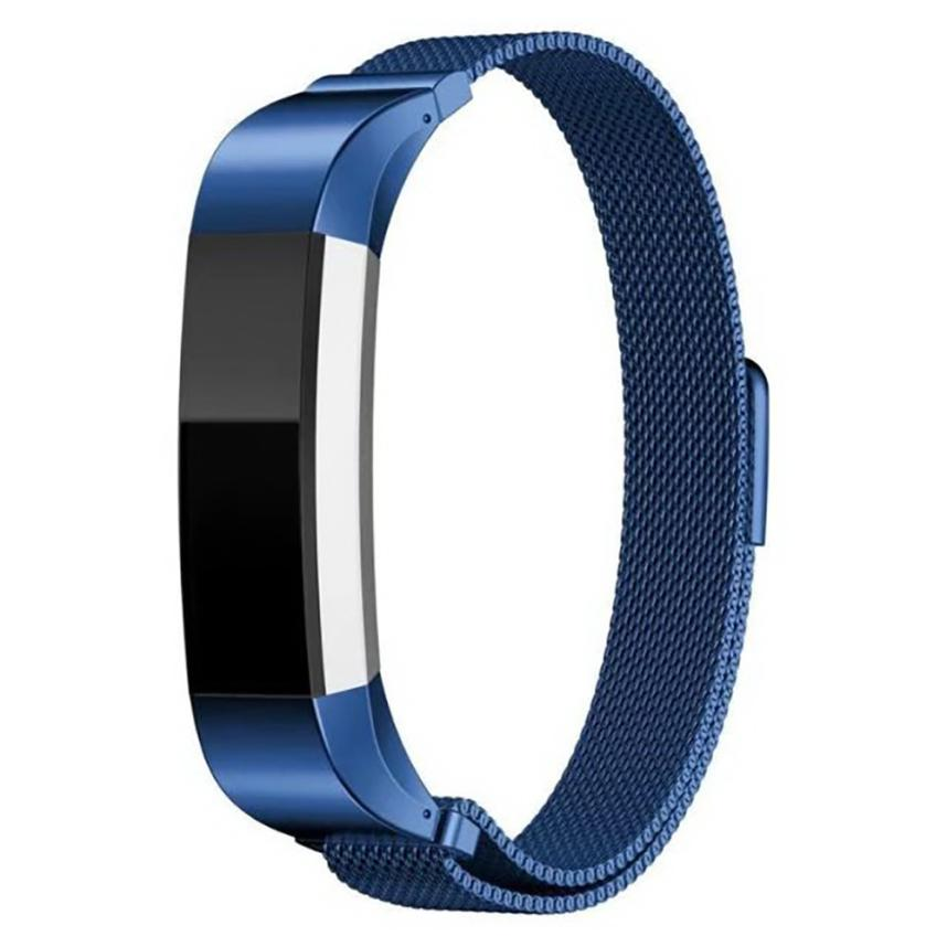 2017 High Quality Milanese Magnetic Loop Stainless Steel Smart Watch Band + Connector For Fitbit Alta MA04