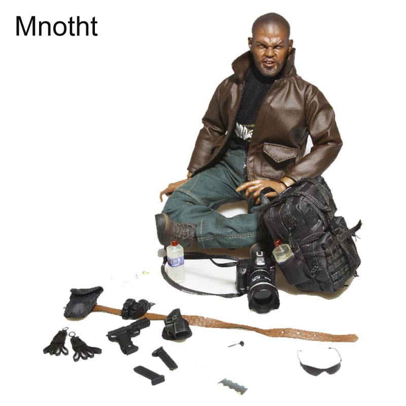 Mnotht 1/6 Black American police Solider Model Suit Clothes 12in Undercover agent Solider Model Clothing l30 Collection Toy mnotht toy 1 6 wwii solider model wrath of brad pitt head carved military figures tanks suit clothes l30