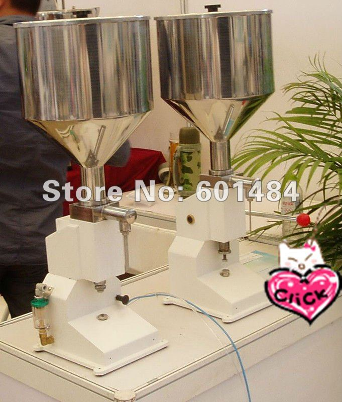 manual cosmetic cream ointment  filling machine(0-50ml) free shipping a03 new manual filling machine 5 50ml for cream