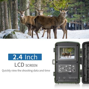 12MP 1080P Trail Game Hunting Camera Waterproof Wildlife Scouting Camera Video Recorder for Security Farm Wildlife Camera