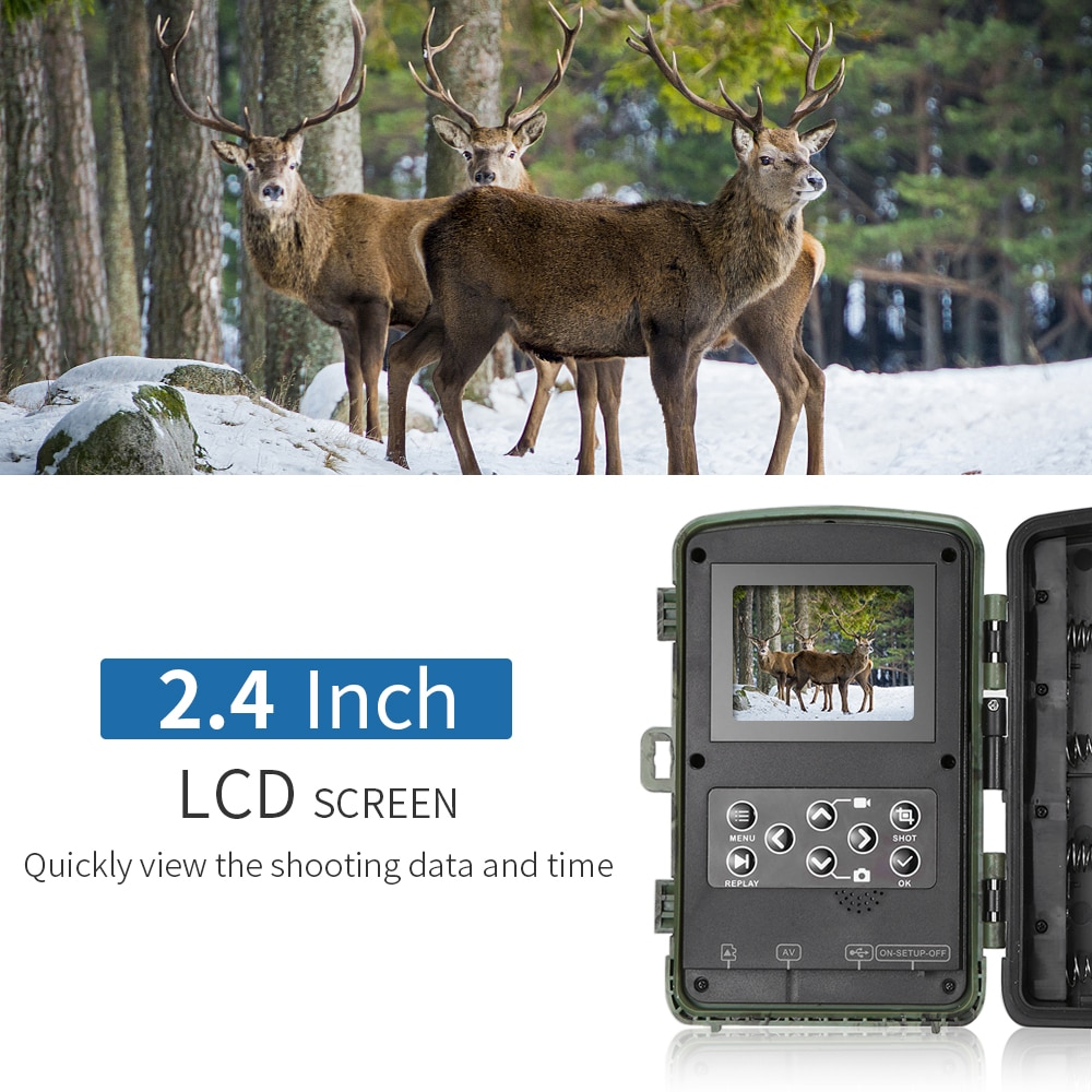 12MP 1080P Trail Game Hunting Camera Waterproof Wildlife Scouting Camera Video Recorder for Security Farm Wildlife Camera image