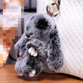 13cm New Cute Rabbit Fur Keychain Pendant Bag Car Charm Key Chain Ring Mini Rabbit Toys Doll For Women Gift Jewelry