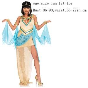 Image 2 - Ladies White Greek Goddess Costume Women Sexy Arabic Prince Fancy Dress Female Egyptian Costume for Halloween Party Dress