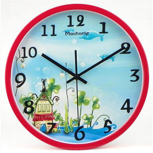 grand num rique chinois horloge murale silencieux maison montre enfant horloge enfants chambre. Black Bedroom Furniture Sets. Home Design Ideas