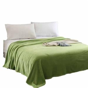 Image 1 - Super Zachte Warme Solid Warm Micro Pluche Fleece Deken Gooi Tapijt Sofa Beddengoed Dubbele Sprei Dekens Voor Bed Covers