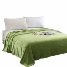 Super macio quente sólido micro cobertor de pelúcia velo lance sofá cama dupla colcha cobertores para cama capas