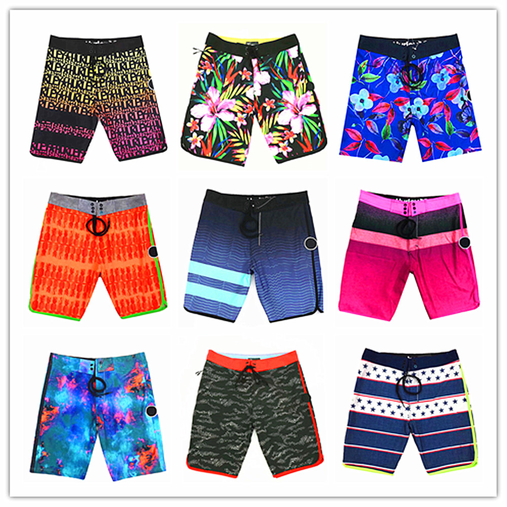 2019 Bermuda Brand Phantom Elastic Men Beach Boardshorts 100% Super Quality Quick Dry Men's Sexy   Board     Shorts   Hawaiian   Shorts