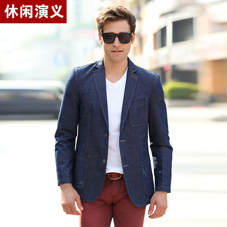 Online Buy Wholesale men's blue blazer from China men's ...