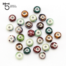 6 8 10mm Mix Colour Ceramic Beads Handmade Bracelet Necklace Materials DIY Accessories Round Kiln Change Porcelain beads T700 цена