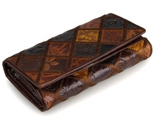JMD Free Shipping Tanned Genuine Leather Folded Wallet For Womens Coin Purse 8094-2C