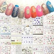 24pcs/set DIY 3D Flower Nail Sticker Multi-designs adesivo de unha unhas Manicure Decals Stickers  NTL-40#