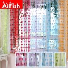 200*100cm Classic Line String Curtain Window Blind Vanlance Room Divider Romantic Heart Design Marriage Room Door Decorative