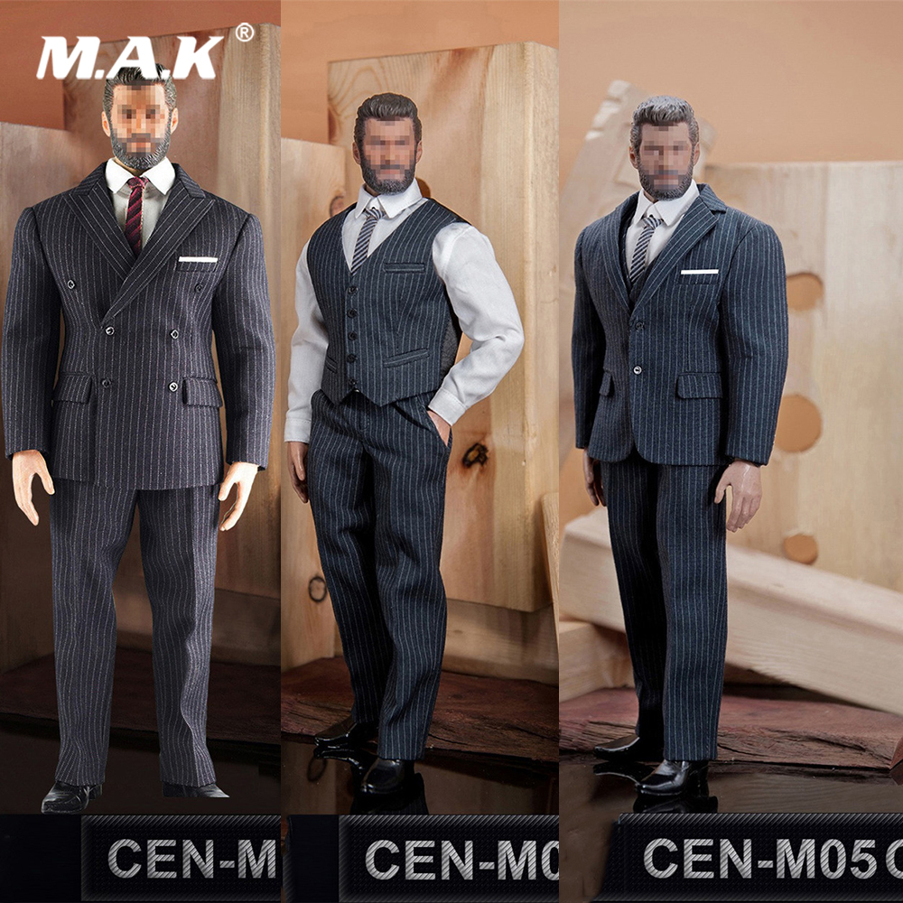 1:6 Male Figure Clothes British Gentleman Striped Suit Shoes Accessory Model A/B/C Styles for 12 Man Muscle Action Figure Body1:6 Male Figure Clothes British Gentleman Striped Suit Shoes Accessory Model A/B/C Styles for 12 Man Muscle Action Figure Body