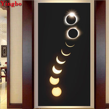 5D DIY Diamond painting Eclipse of The Moon scenery Cross Stitch Diamond embroidery Full drill square round Mosaic decoration(China)