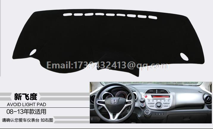 For Honda Fit Jazz 2008 2009 2010 2011 2012 2013 Dashmats Car Styling  Accessories Dashboard Cover