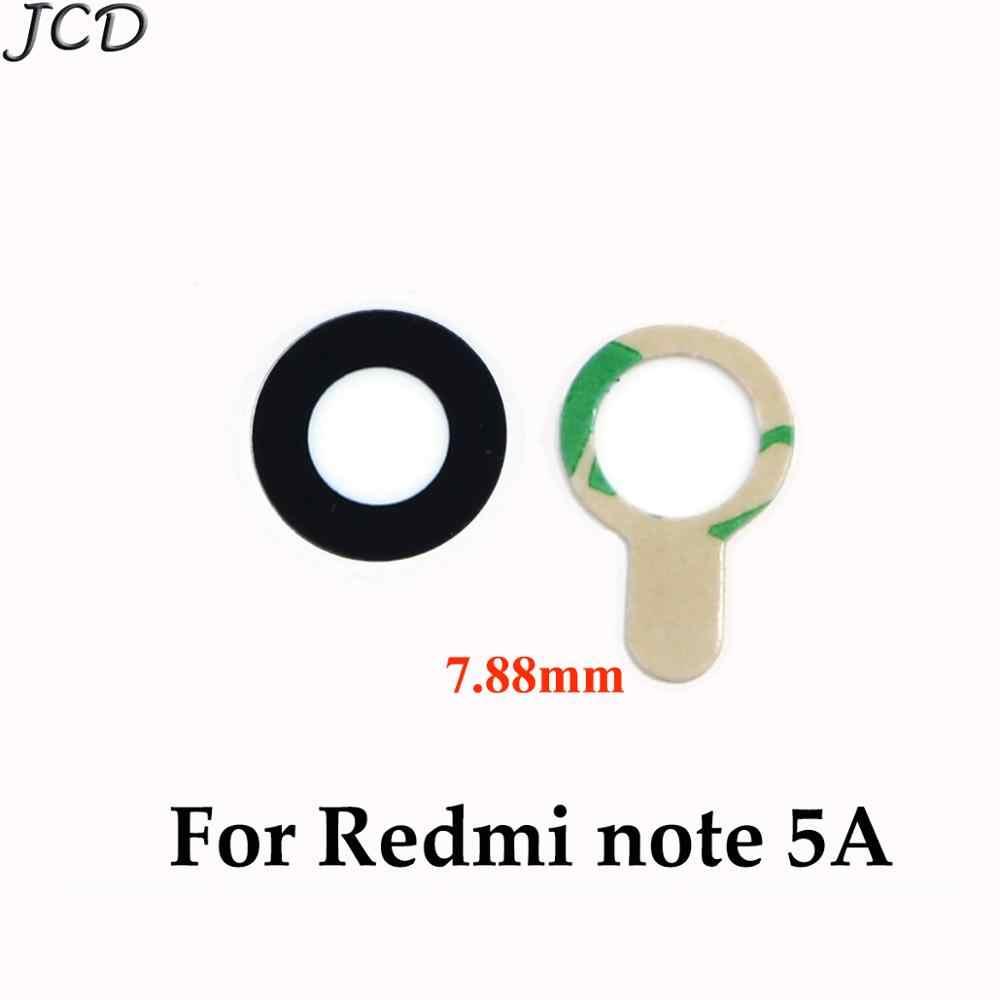 JCD tylna kamera szklana osłona obiektywu z naklejką do Xiaomi Redmi 5 5 Plus 5 Plus do Redmi note 5A obudowa telefonu części zamienne