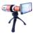 Aluminio trípode y caso 50x 50x de zoom de la lente de cámara del telescopio teleobjetivo para iphone 6 plus/6/5/4 samsung s6/s5/s4/note 4/3/2