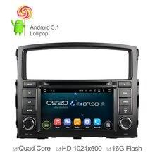 Android 5.1 Coches Reproductor de DVD para MITSUBISHI PAJERO V97 V93 Con Quad Core GPS Ipod Radio RDS Apoyo OBD DVR Wifi Incorporado 16 GB
