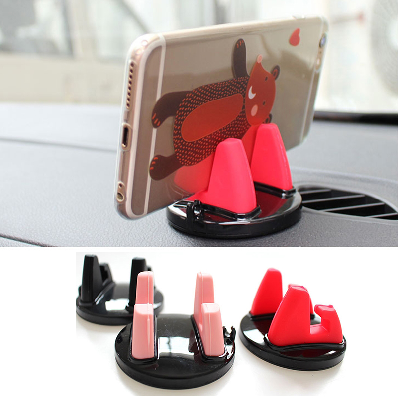 360 Degree Rotating Car Phone Holder Anti Slip Silicone Mobile Phone Stand Mount GPS Support for Xiaomi Huawei Auto Accessories 3