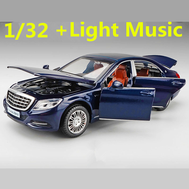 Miniature 1/32 Maybach S600 Diecast Toy Vehicles M