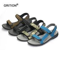 GRITION Outdoor Fashion Men Sandals Summer Men Shoes Casual Shoes Breathable Beach Sandals Sapatos Masculinos Plus