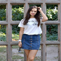 Summer Style Brand Tshirt White Letter Printed Funny T shirts Women White Black Tops For Girls Woman Female Plus Size