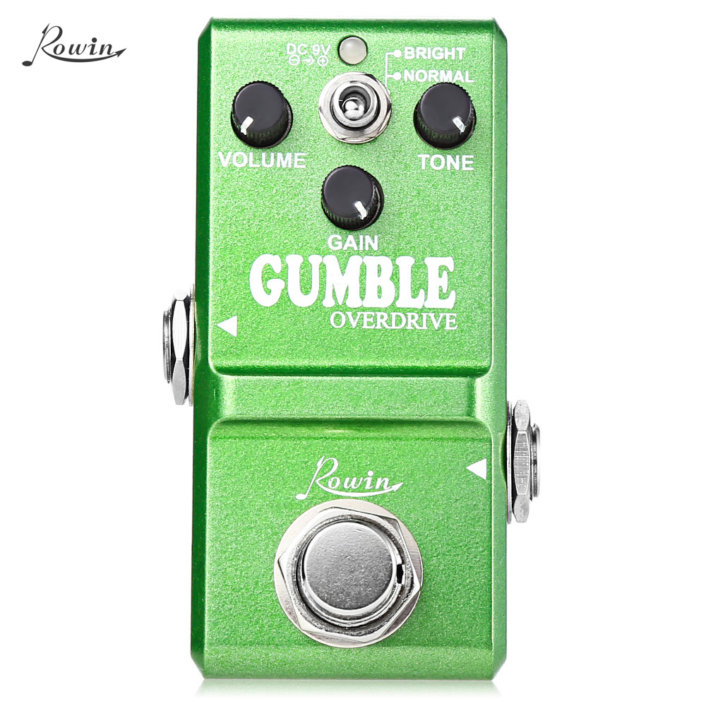 ROWIN Round and Smooth Overdrive Box Guitar Effect Pedal True Bypass Design Aluminum Alloy Housing mooer ensemble queen bass chorus effect pedal mini guitar effects true bypass with free connector and footswitch topper