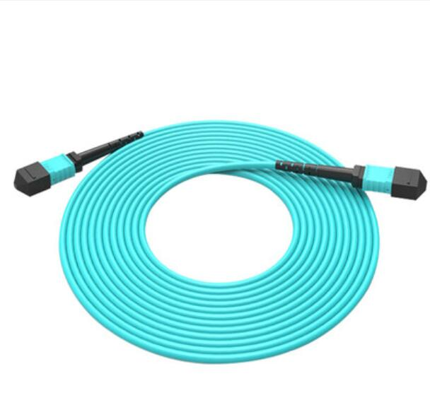 3M MPO-MPO 12 Core Fiber Optic Patch Cord Cable 10GB 50/125 OM3 Multimode Fiber Optic Cable3M MPO-MPO 12 Core Fiber Optic Patch Cord Cable 10GB 50/125 OM3 Multimode Fiber Optic Cable