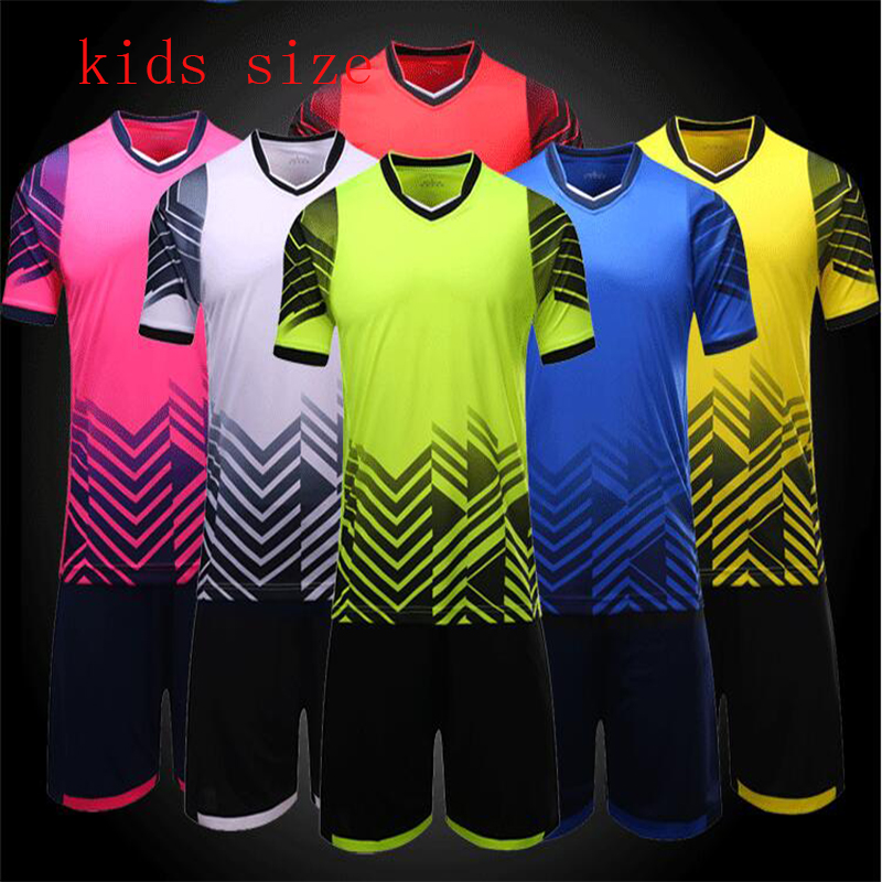 High quality polyester cotton children's sports tracksuit for boys and girls spring summer outdoor Soccer uniform for kids