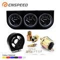 CNSPEED 52 мм комплект с тройным манометром  вольтметр  датчик температуры масла  датчик давления масла 3 в 1 с фильтром для масла  кулер  адаптер д...