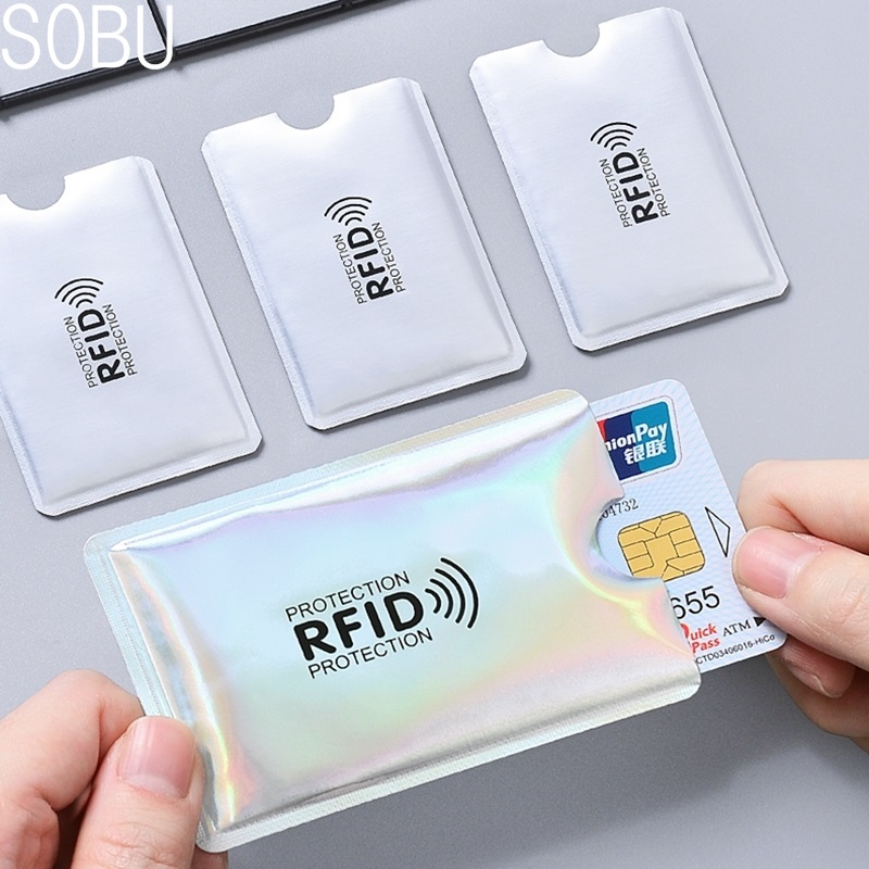 5pcs Anti Rfid Blocking Reader Lock Bank Card Holder ID Bank Card Case Rfid Protection Metal Credit Card Holder Aluminium H042