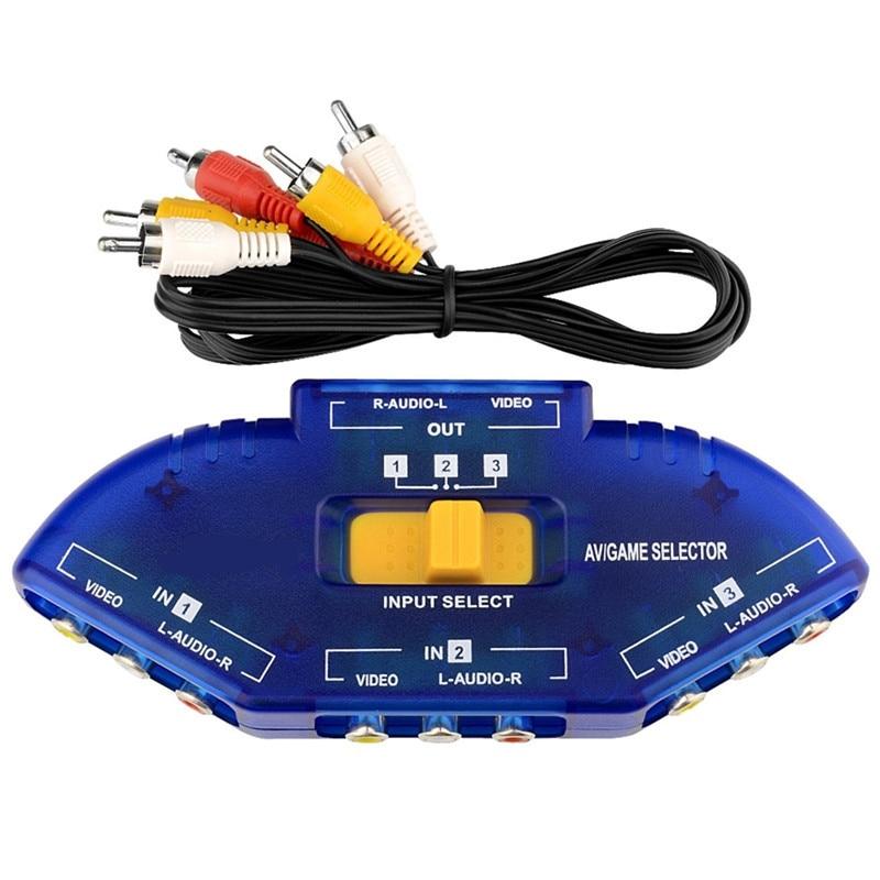 3 Rca Splitter Switching Devices Av Audio Video Rca 3 Way