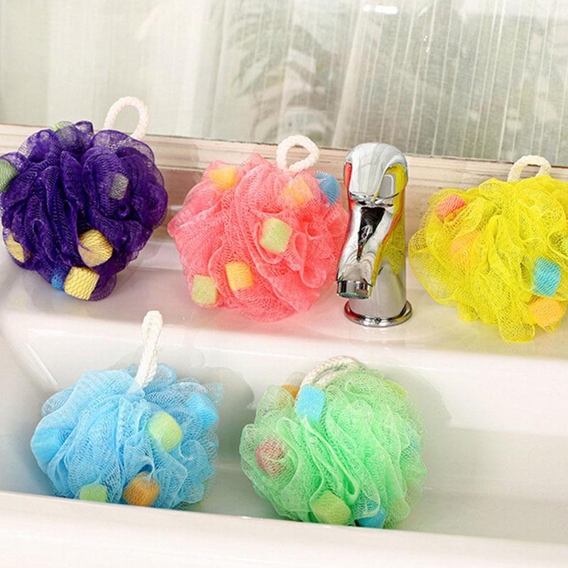 Cool Ball Bath Towel Loofah Flower Bath Ball Bath Tubs Scrubber Shower Wash Sponge Sanitary Ware Suite Body Cleaning Mesh