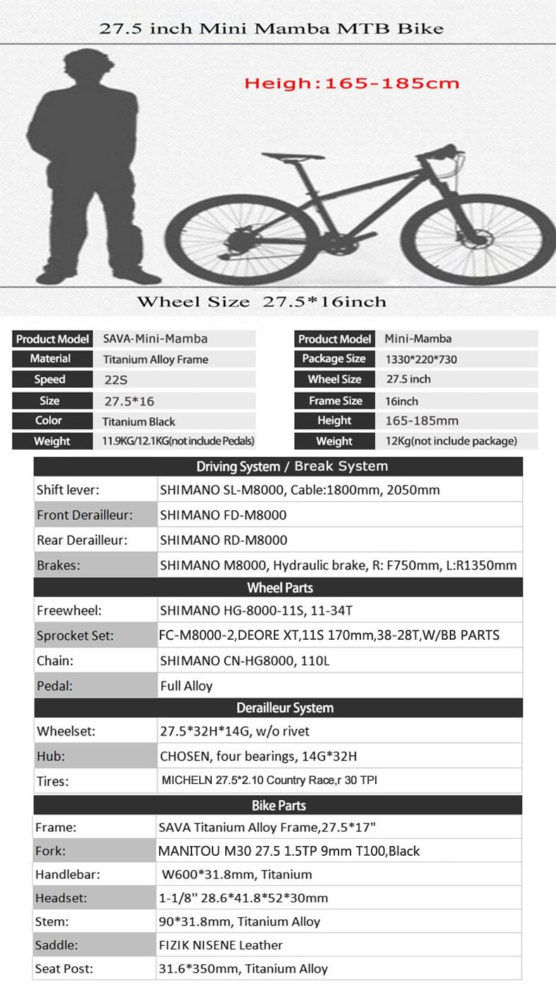 SAVA Titanium bike Titanium bicycle frame bike 27.5er mountain bike ...