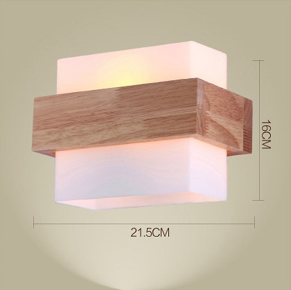 northern europe style wood led wall light lamps for home sconce arandela lamparas