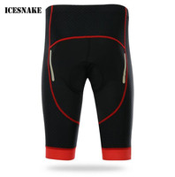 ICESNAKE Men Bicycle Cycling Shorts 3D Silica Gel Padded MTB Mountain Bike Shorts Underwear Breathable Cycling Shorts