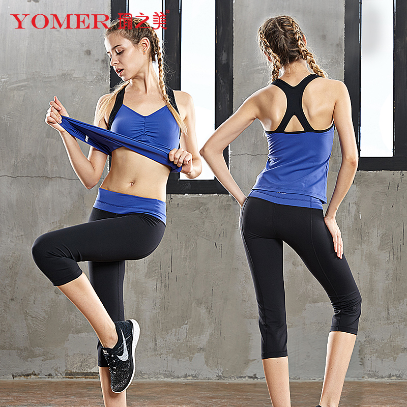 YOMER Women Fitness Yoga Sets Gym Sports Vest Running Jumpsuits Jogging Dance Tracksuit Breathable Spandex Sportswear Outdoor nizhi tt6 portable mini music speaker mp3 player w fm tf card slot black