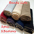 Высокое качество новый чистый цвет золотой шарик стороны бандана шелковый шарф Мусульманский хиджаб шарф женщин 1 шт. Бесплатная Доставка независимость упаковка