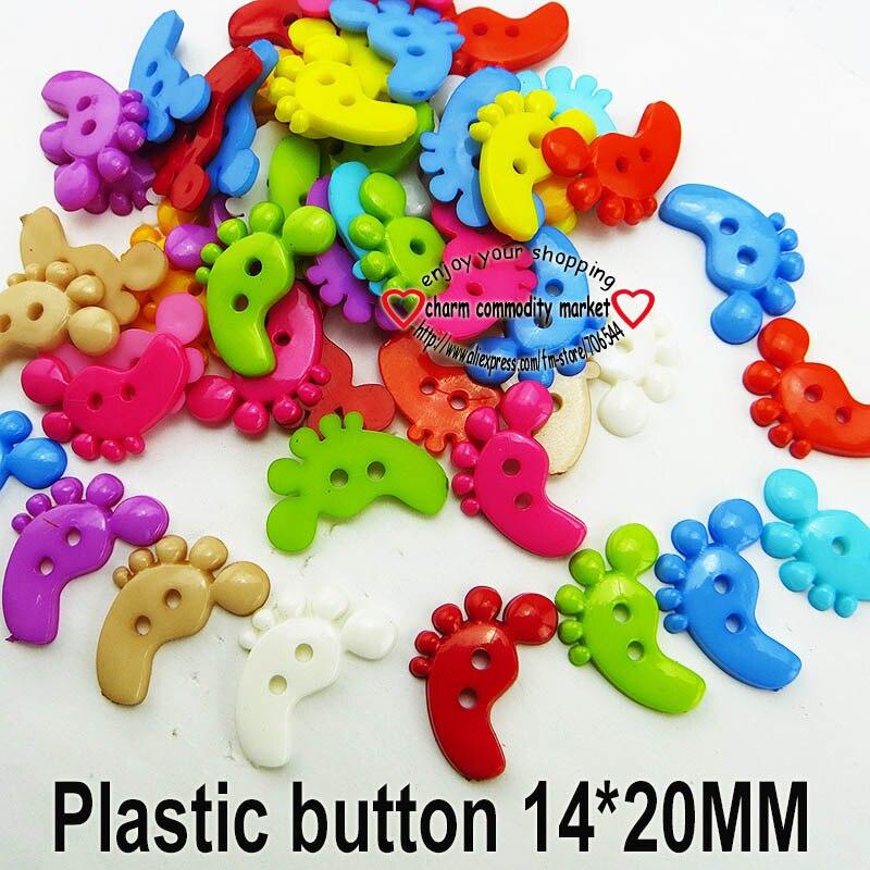 АКЦИЯ 100 шт смешанные формы много цветов Сделай Сам Скрапбукинг Мультяшные кнопки пластиковые кнопки детская одежда швейные принадлежности P-001 - Цвет: 16