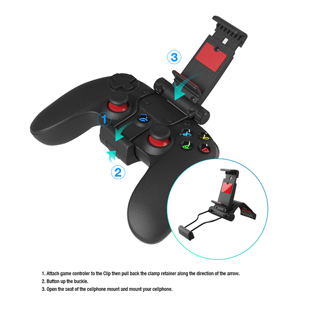 GameSir G3W oystick Mobile USB Wired Gamepad Game Controller For Smartphone Tablet PC With Individual Holder