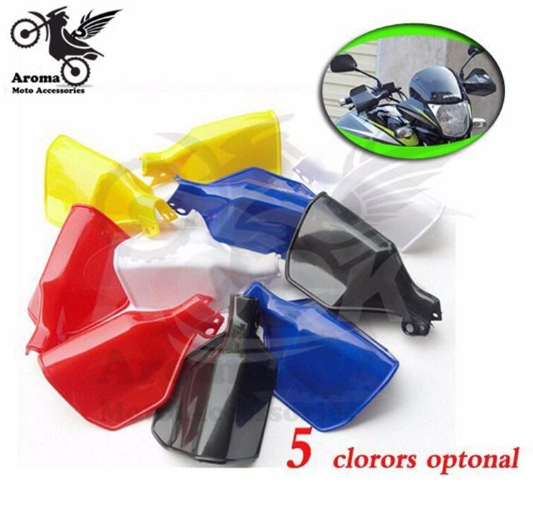 สีดำสกปรกหลุมจักรยานมือยามวิบาก moto ป้องกันการล่มสลายรถ ATV ออฟโรดสีแดงรถมอเตอร์ไซด์ป้องกันมือรถจักรยานยนต์ handguard