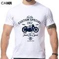2016 novo Design da motocicleta impressão de T manga curta O pescoço homens fortes camisas marca de moda de nova frete grátis