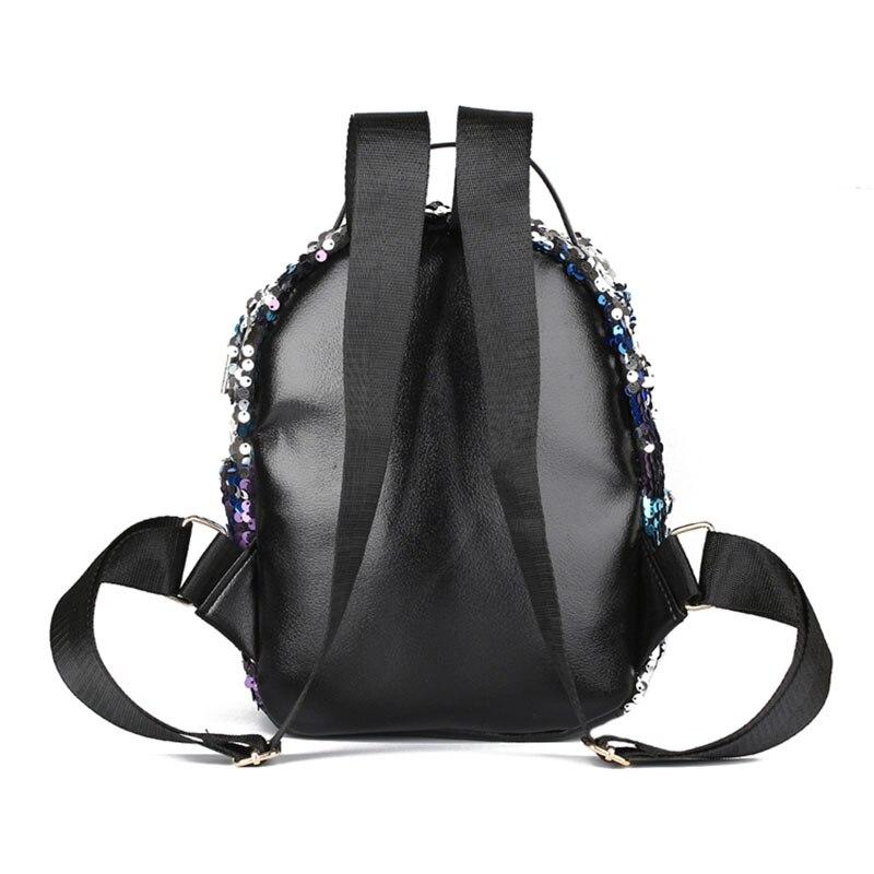 Мода небольшой блестки рюкзак женщины Серебряный блесток рюкзак 2018 мини  девочек черный кожаные рюкзаки рюкзак женщин XA129H - переведено сервисом  Яндекс. ... c4ac5106e888