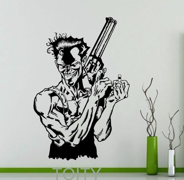 Joker Wall Sticker DC Marvel Comics Cool Poster Superhero Vinyl - Superhero vinyl wall decals