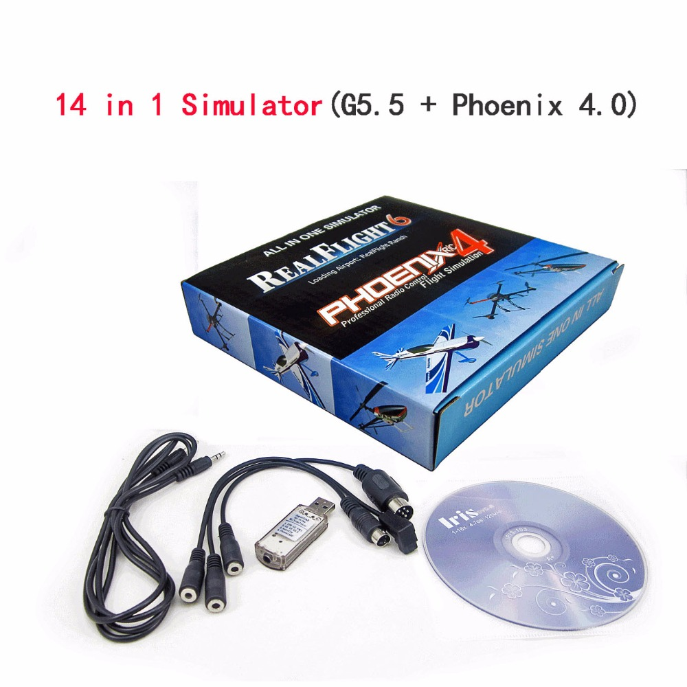 Phoenix 14 in 1 flight simulator support G5.5 G4 Phoenix 4.0 3.0 XTR and so on 22 in 1 rc usb flight simulator cable for realflight g7 g6 g5 g4 g3 5 phoenix 5 0 xtr fms aerofly